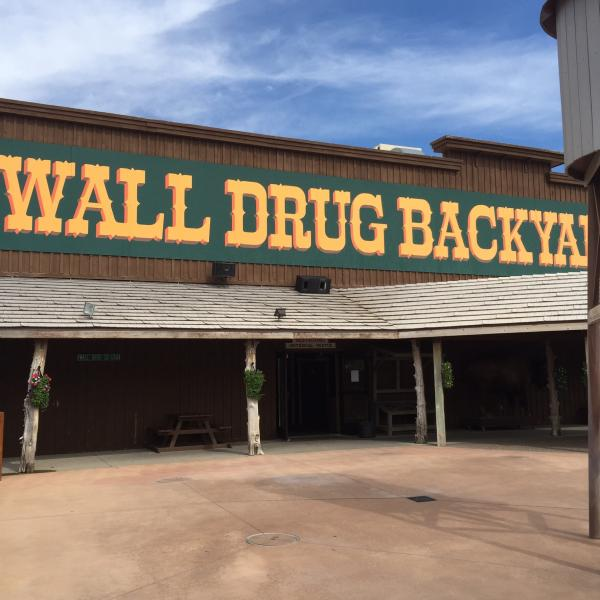 Of course a visit to Wall Drug, Wall, SD.