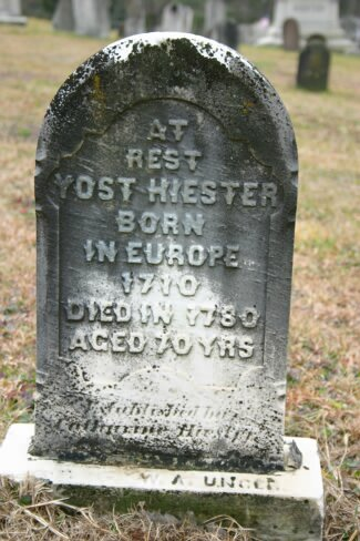 Hiester Yost 1710; Bern, Berks, Pennsylvania, USA