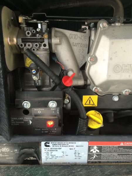 Generator In-line fuel shut off valve.