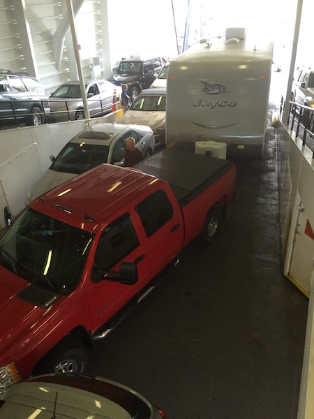 Rig loaded on the Ferry from Port Jefferson, NY (Long Island) to Bridgeport, CT.