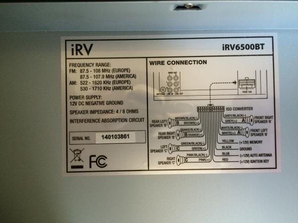 iRV 6500BT Schematic