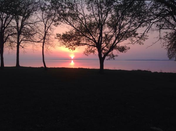 Beautiful sunrise over Carlyle Lake
