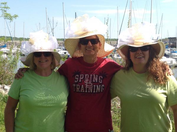 Ladies with their derby day hats