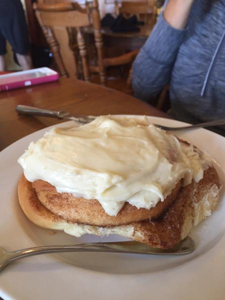 If you are in the area be sure to take a visit to Arcadia Mo. We stopped for lunch at the The Abbey Kitchen. The giant cinnamon roll was awesome. Big enough to feed 4.  http://www.arcadiavalleyacademy.com