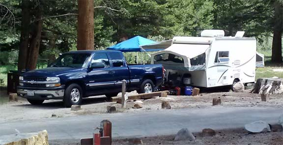 East Fork Rock Creek Campground. Eastern Sierra Nevada mountains. July 2014