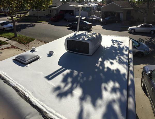 refinished roof