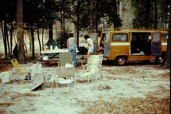 1974-61 Ford Econoline van (our first Motorhome!!) Picture taken at Coles Point, Va.