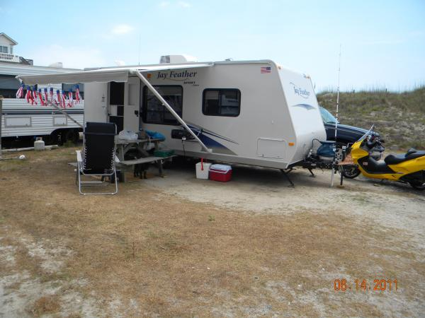 2011-Our 4th trailer-Tent gone, back to trailer 2011 JayFeather 22 ft.