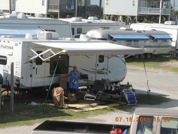 Our 5th camper, 2012 JayFeather 24'  at Surf City, N.C.