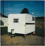 13 ft. ????  Our first Camper-1988 5 gallon water tank, sink with hand pump, ice box. Used twice before upgrading!