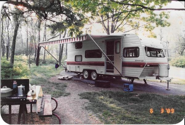 Our 3rd camper-24 ft. 1979 Fleetwood Cimarron BH used from 1988-92