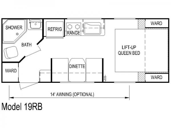 Koala 19RB Floorplan