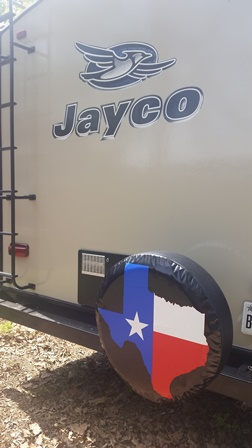 installed new spare tire cover