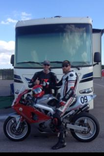 New Precept 29UM at NOLA Motorsports Park March 27-28, 2015 for the AHRMA race weekend.  I'm on left.