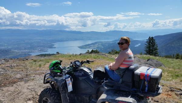 Looking over to Kelowna