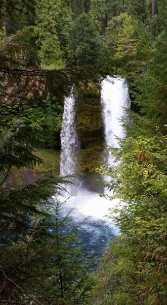 Saline Falls on McKenzie River, or