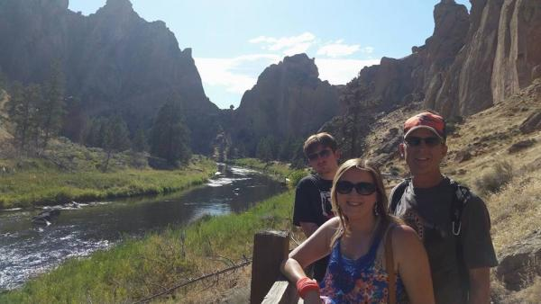 Incredible scenario and hiking at Smith Rock near Redmond