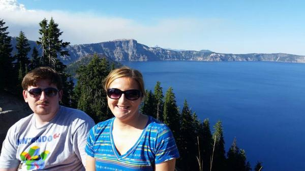 Awesome view of Crater Lake.  Worth the climb to