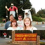 Fun at Trees of Mystery with family and Blue Ox
