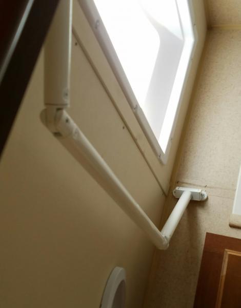 New extend a rod shower curtain.