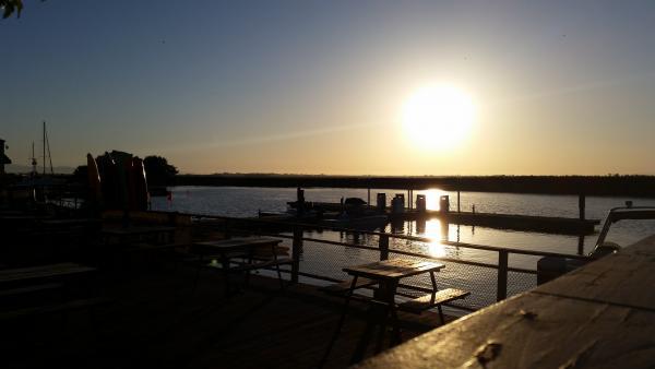 Sunset on the delta