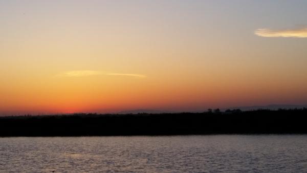 Sunset on the delta.