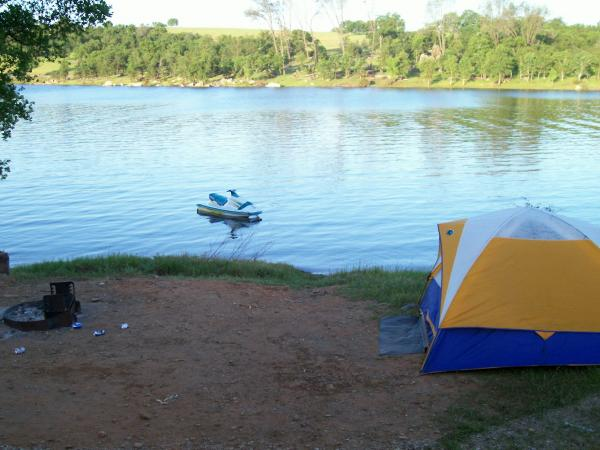 Old school camping before my Jayco. My Waverunner in the background.