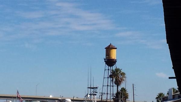 The KOA watertower