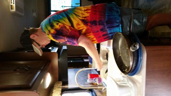 Cassie doing the dishes