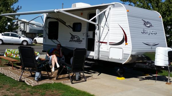 Our Jayco is all set up.