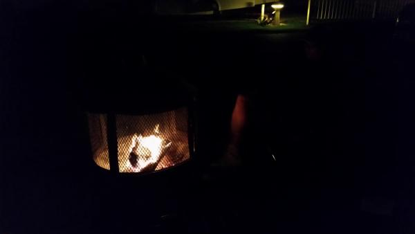 The campfire.