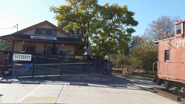 The Shingle Springs depot.