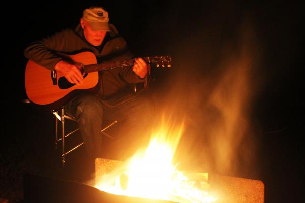 Guitar by the fire