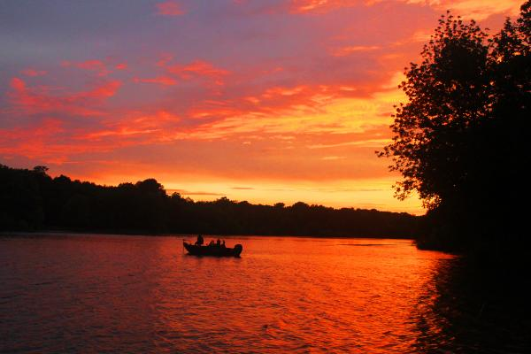 Fishing at Sunset - Moraine View SP, IL
