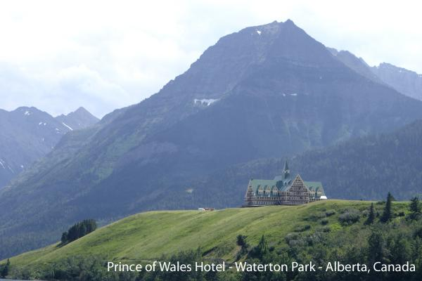 Waterton Park Hotel - Glacier National Peace Park - Canada.