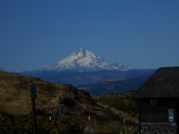 Oregon's Mt Hood from Horsethief Butte at Columbia Hills State Park, WA (also known as Horsethief Lake State Park)