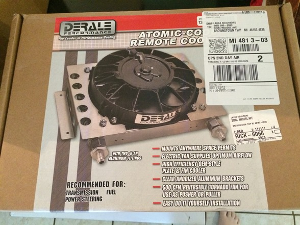 Transmission Cooler - Derale 13950 Atomic-Cool Remote Cooler