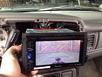 To keep my marriage a happy one and reduce any tension at the start and end of the trip I installed a backup camera. A quick $20 purchase on Amazon...