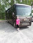 My wife Meaghan next to our new 35UP