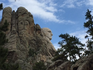 A pleasant surprise driving to Mt. Rushmore from the backside.