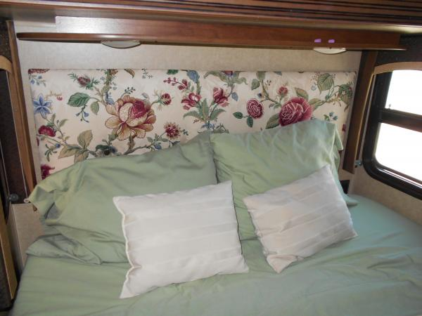 Headboard Wife Re did no more DRK BRN
