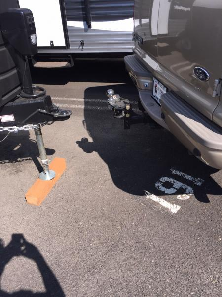 Had to adjust the hitch