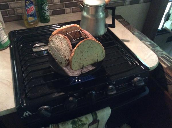 Toasting on the stove