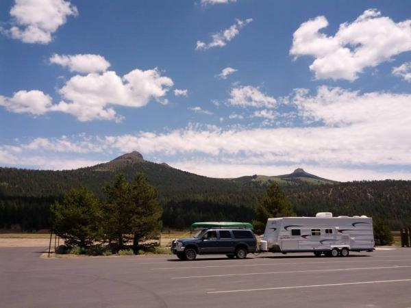 At Hope Valley rest stop, near Blue Lakes, 2013