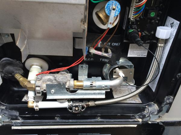 Water heater tank drain line mod