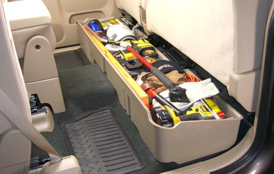 DuHa under-seat storage - 2010 GMC Sierra 1500 Extended Cab