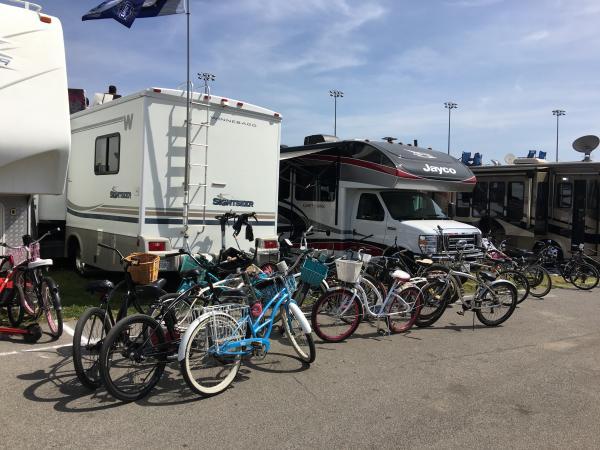 Keep yer bikes away from my Jayco!  ;)