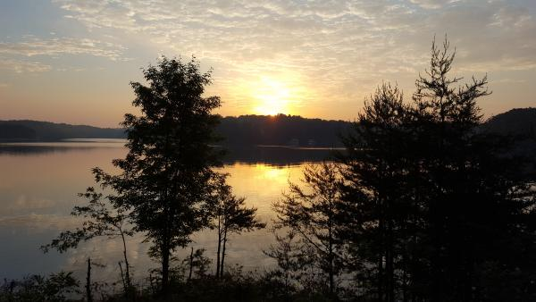 Sunrise from site 82 Duckett Mill