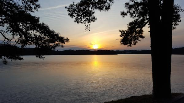 Sunset from site 26 Twin Lakes COE SC.