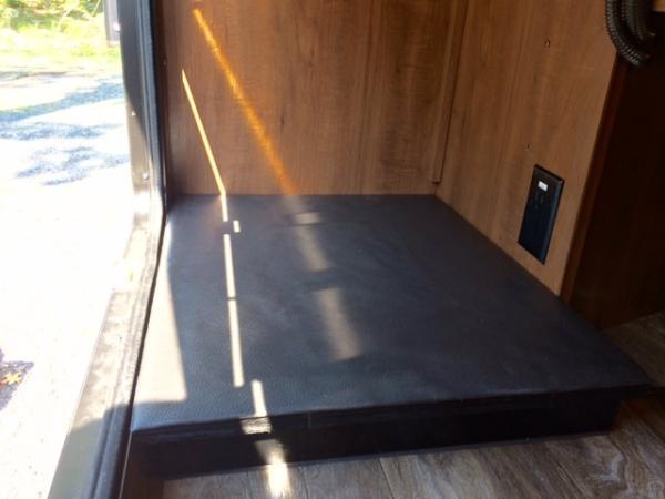 Here's the refrigerator stand tucked into the compartment.
